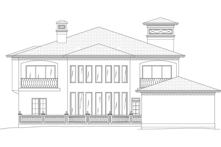 106-1051: Home Plan Rear Elevation