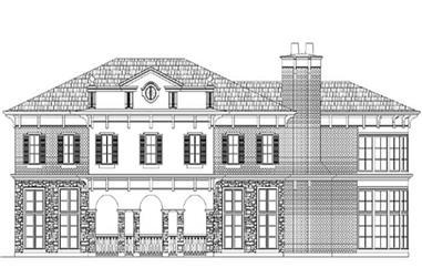 4-Bedroom, 4953 Sq Ft European Home Plan - 106-1054 - Main Exterior