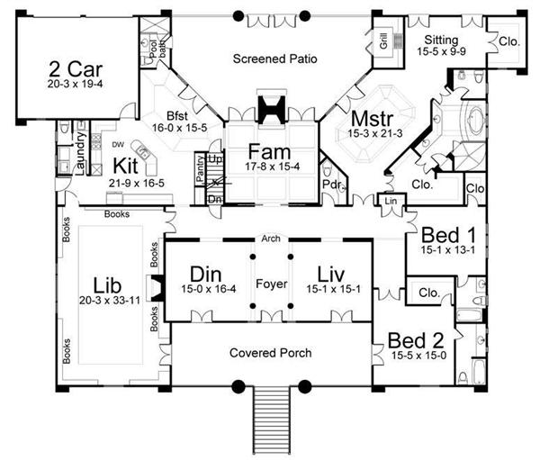 Historic colonial home plans floor plans Historic colonial house plans