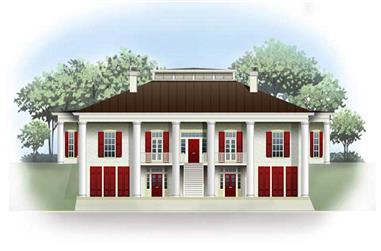 3-Bedroom, 4379 Sq Ft Colonial House Plan - 106-1055 - Front Exterior