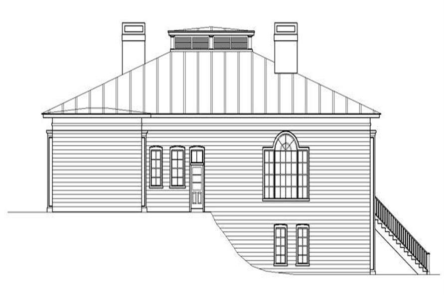 Home Plan Left Elevation of this 3-Bedroom,4379 Sq Ft Plan -106-1055