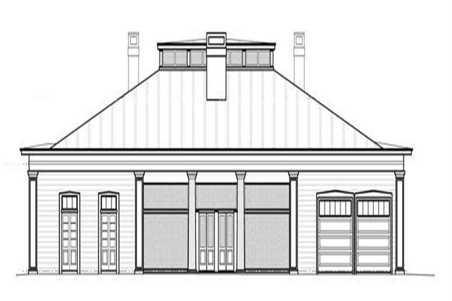 Home Plan Rear Elevation of this 3-Bedroom,4379 Sq Ft Plan -106-1055