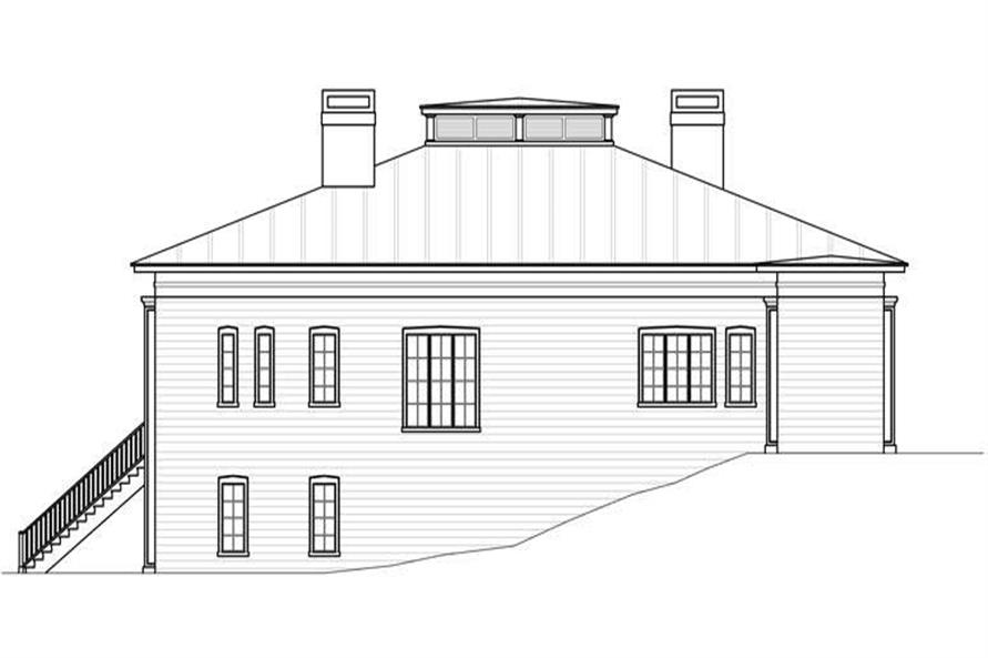 Home Plan Right Elevation of this 3-Bedroom,4379 Sq Ft Plan -106-1055