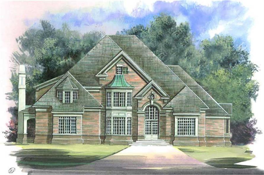 4-Bedroom, 3706 Sq Ft European Home Plan - 106-1061 - Main Exterior