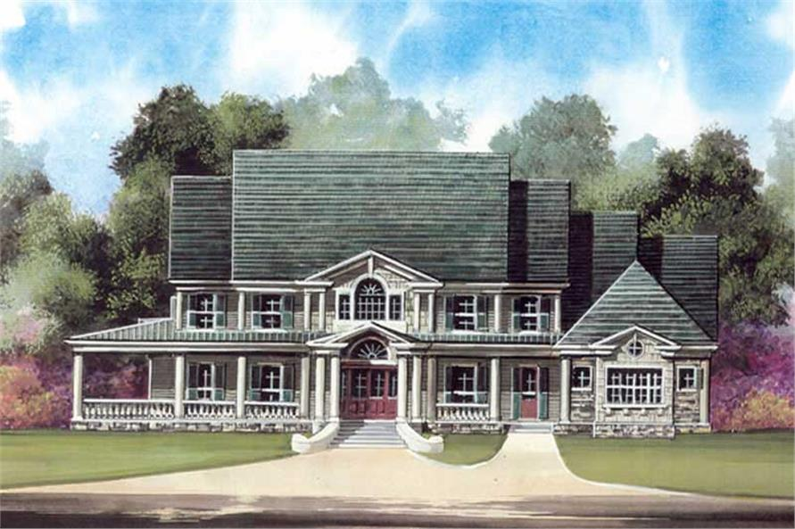 5-Bedroom, 5083 Sq Ft Colonial House Plan - 106-1063 - Front Exterior