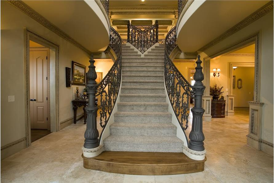 Entry Hall: Staircase of this 5-Bedroom,5083 Sq Ft Plan -106-1063