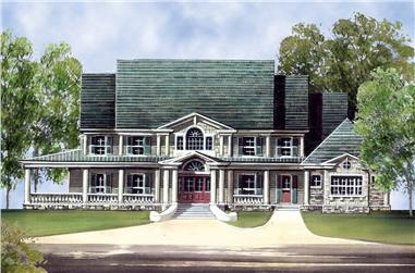 5-Bedroom, 5083 Sq Ft Colonial House - Plan #106-1063 - Front Exterior