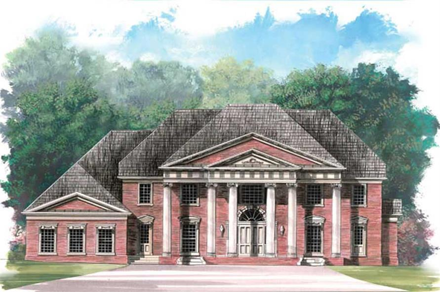5-Bedroom, 5083 Sq Ft Colonial House Plan - 106-1064 - Front Exterior