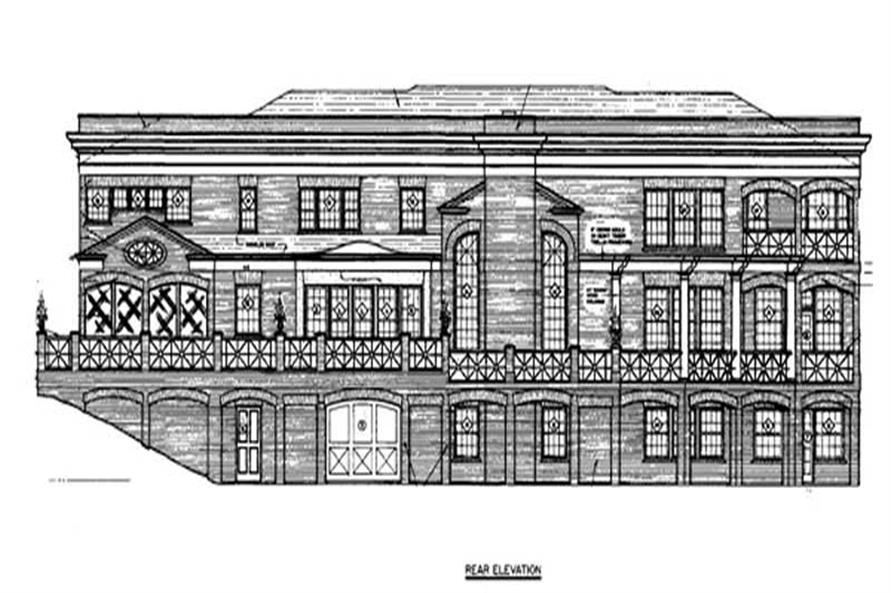 Home Plan Rear Elevation of this 5-Bedroom,5120 Sq Ft Plan -106-1065