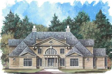4-Bedroom, 5493 Sq Ft European Home Plan - 106-1066 - Main Exterior