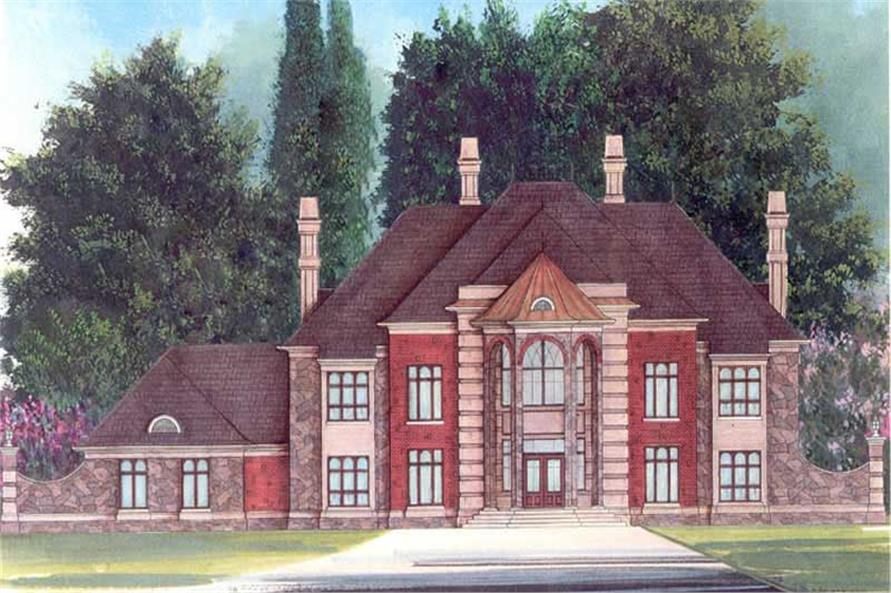 5-Bedroom, 6615 Sq Ft European House Plan - 106-1069 - Front Exterior