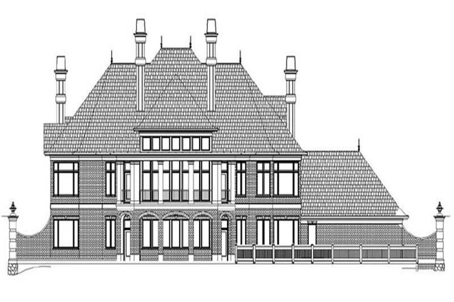 Home Plan Rear Elevation of this 5-Bedroom,6615 Sq Ft Plan -106-1069
