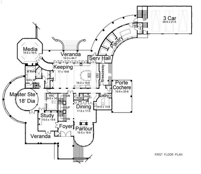House Plan 106 1070 5 Bedroom 6728 Sq Ft Colonial European