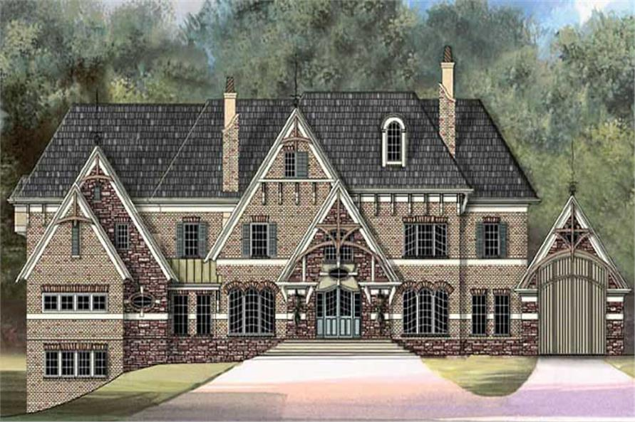 5-Bedroom, 6972 Sq Ft European House Plan - 106-1071 - Front Exterior