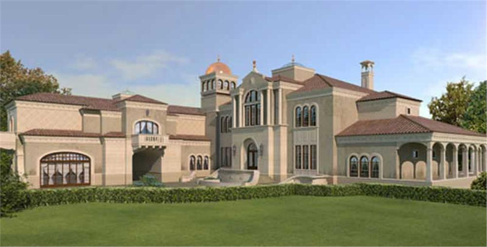 Color Rendering for Luxury Home Plans.