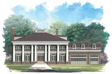 4-Bedroom, 5729 Sq Ft Craftsman House Plan - 106-1075 - Front Exterior