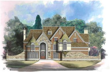 5-Bedroom, 6626 Sq Ft European House Plan - 106-1076 - Front Exterior