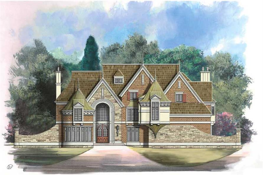 5-Bedroom, 6626 Sq Ft European House Plan - 106-1076 - Front Exterior