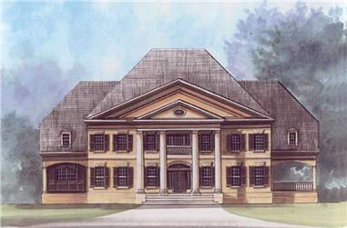 5-Bedroom, 5717 Sq Ft Colonial House Plan - 106-1077 - Front Exterior
