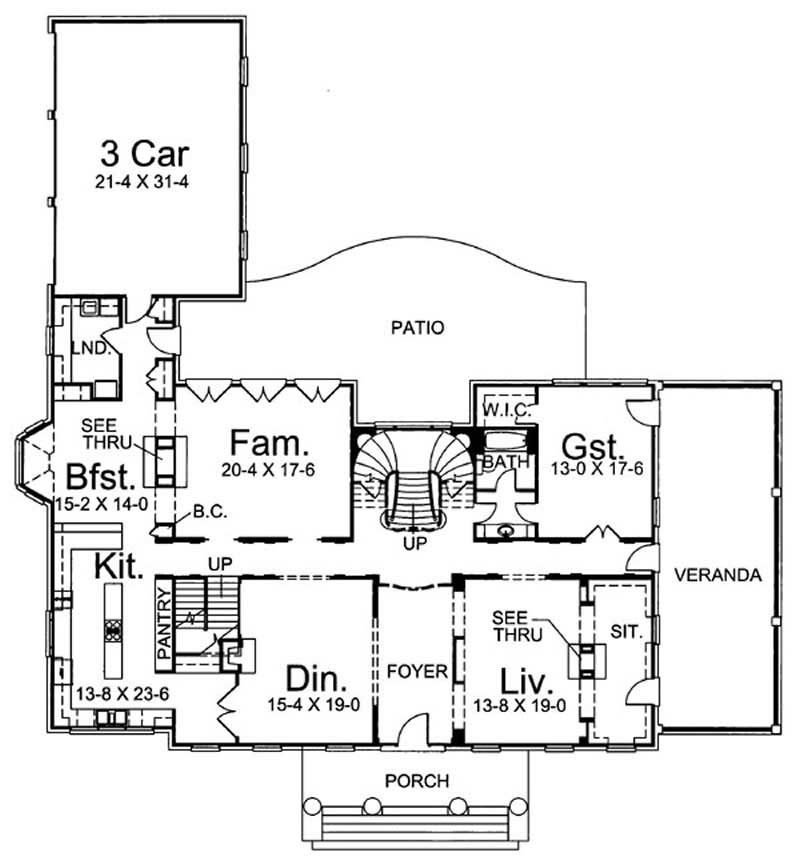 House plan 106 1077 5 bedroom 5717 sq ft colonial for 1077 marinaside crescent floor plan