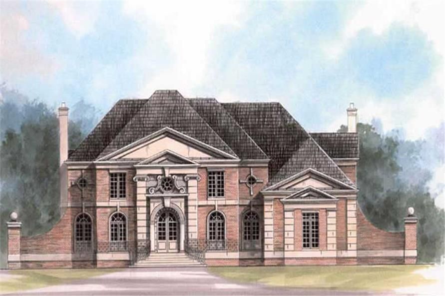 4-Bedroom, 4390 Sq Ft Colonial House Plan - 106-1080 - Front Exterior