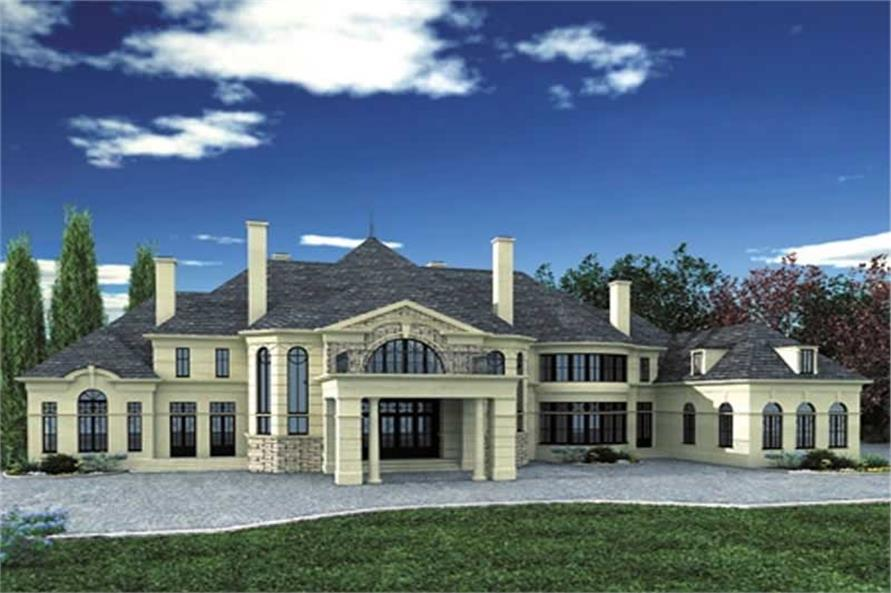 5-Bedroom, 7885 Sq Ft Colonial Home Plan - 106-1083 - Main Exterior