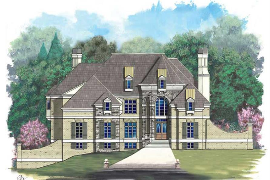 6-Bedroom, 7157 Sq Ft European Home Plan - 106-1085 - Main Exterior