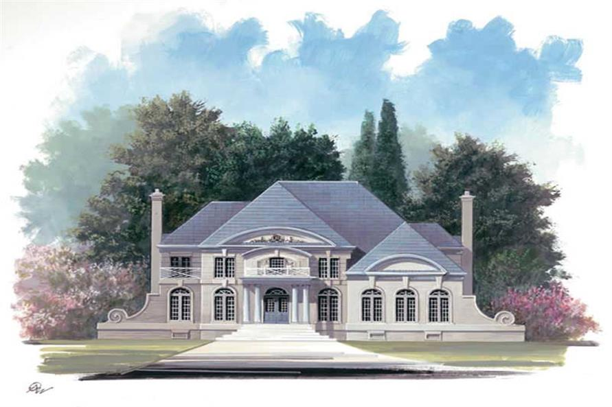 4-Bedroom, 3169 Sq Ft European House Plan - 106-1087 - Front Exterior
