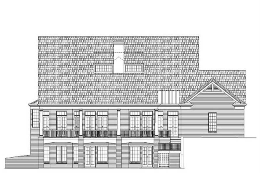 Home Plan Rear Elevation of this 4-Bedroom,4469 Sq Ft Plan -106-1088