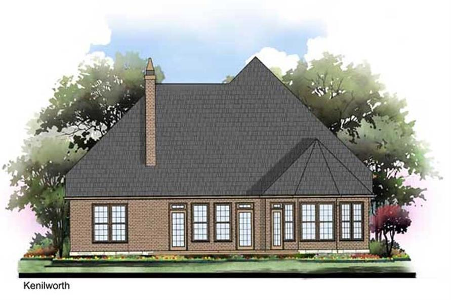 Home Plan Rear Elevation of this 3-Bedroom,1779 Sq Ft Plan -106-1090