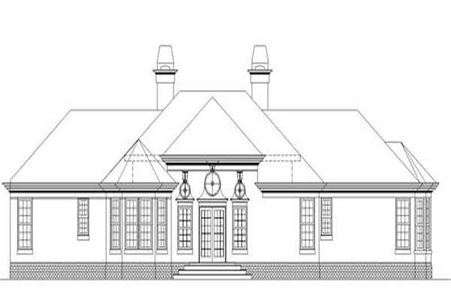 Home Plan Rear Elevation of this 4-Bedroom,2588 Sq Ft Plan -106-1092