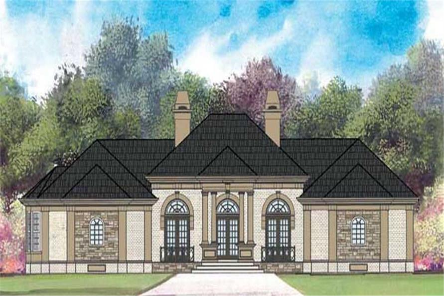 4-Bedroom, 2588 Sq Ft European Home Plan - 106-1092 - Main Exterior