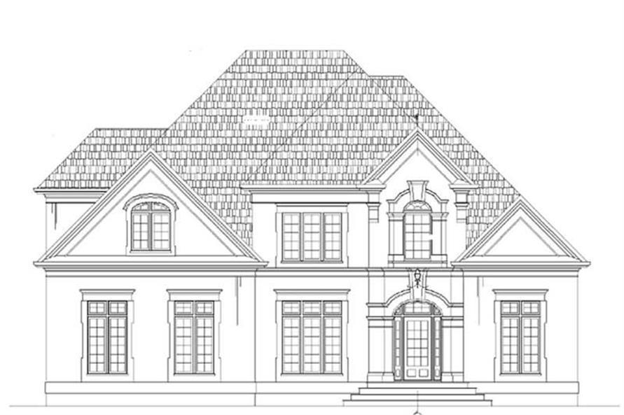 4-Bedroom, 3429 Sq Ft European House Plan - 106-1093 - Front Exterior
