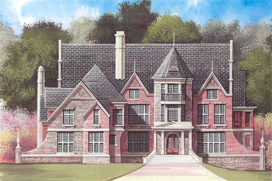 5-Bedroom, 4697 Sq Ft Colonial Home Plan - 106-1094 - Main Exterior