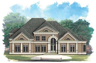 4-Bedroom, 4550 Sq Ft European Home Plan - 106-1095 - Main Exterior