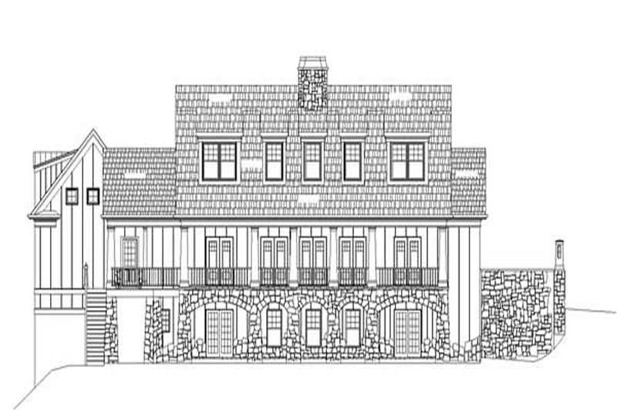 Home Plan Rear Elevation of this 4-Bedroom,2757 Sq Ft Plan -106-1097