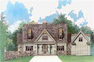 4-Bedroom, 2757 Sq Ft Cottage House Plan - 106-1097 - Front Exterior