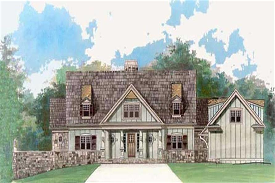 4-Bedroom, 2757 Sq Ft European Home Plan - 106-1097 - Main Exterior