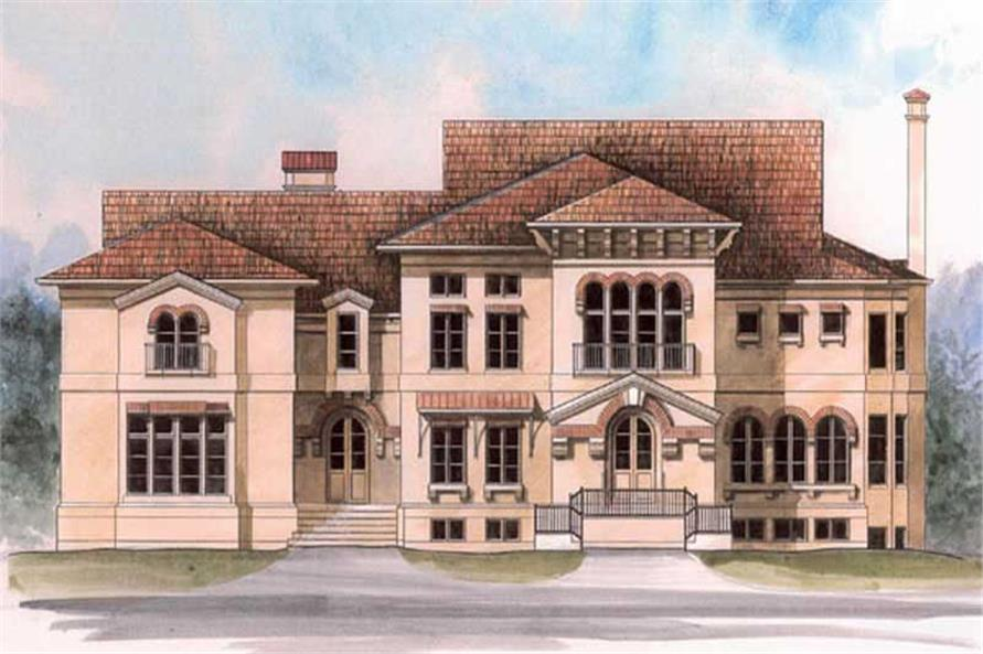 4-Bedroom, 4429 Sq Ft Colonial House Plan - 106-1098 - Front Exterior