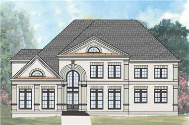 4-Bedroom, 3447 Sq Ft Colonial House Plan - 106-1100 - Front Exterior