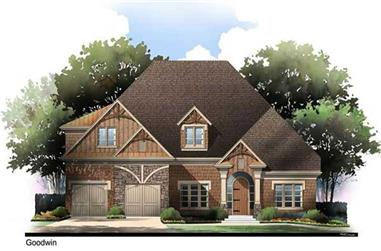 3-Bedroom, 2311 Sq Ft Arts and Crafts House Plan - 106-1101 - Front Exterior