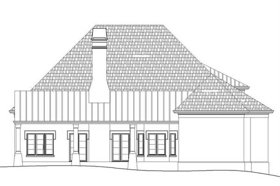 Home Plan Rear Elevation of this 1-Bedroom,2311 Sq Ft Plan -106-1101