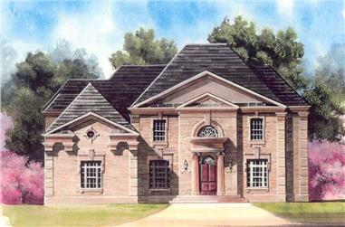 4-Bedroom, 3983 Sq Ft European Home Plan - 106-1104 - Main Exterior