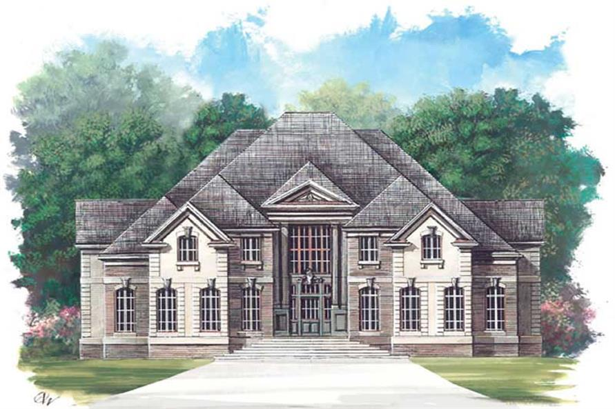5-Bedroom, 3880 Sq Ft European Home Plan - 106-1105 - Main Exterior