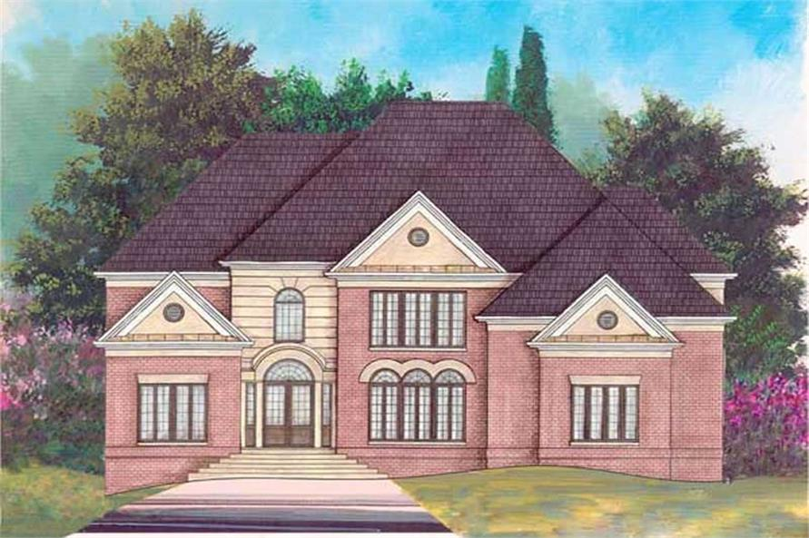 3-Bedroom, 3650 Sq Ft European Home Plan - 106-1106 - Main Exterior