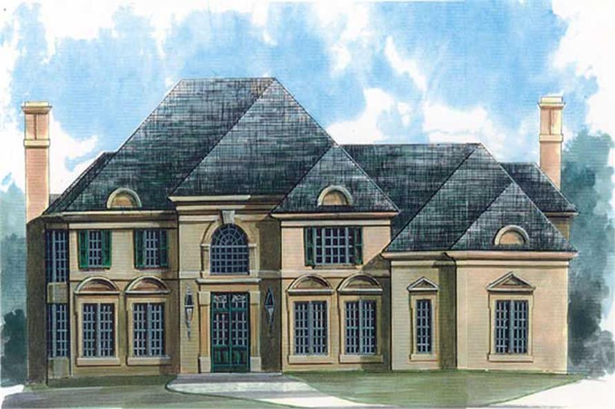 5-Bedroom, 3613 Sq Ft European House Plan - 106-1107 - Front Exterior