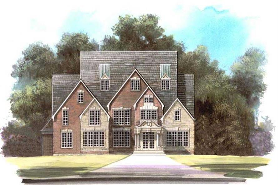 3-Bedroom, 4408 Sq Ft European House Plan - 106-1108 - Front Exterior
