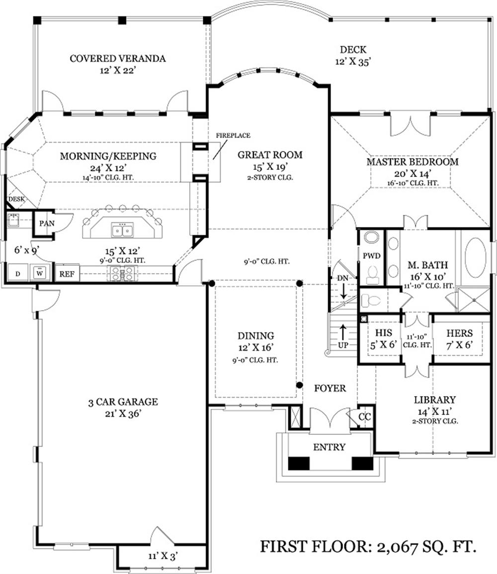 106-1108 house plan main level