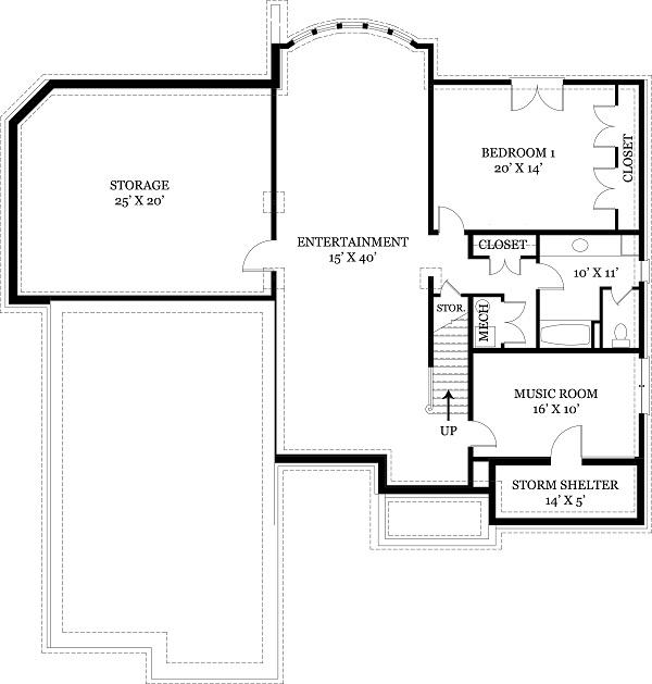 106-1108 house plan basement elevation