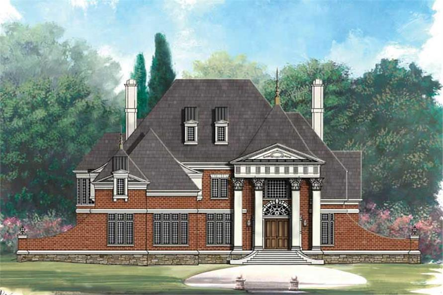 4-Bedroom, 3258 Sq Ft European House Plan - 106-1109 - Front Exterior